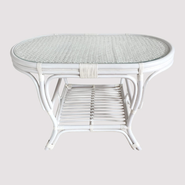 Alisa Oval Coffee Table With Gl Top
